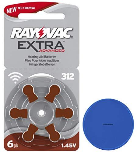 Rayovac 312 gehoorapparaatbatterijen 312AE A312 DA312 P312 + online sale-winkel winkelwagenchip