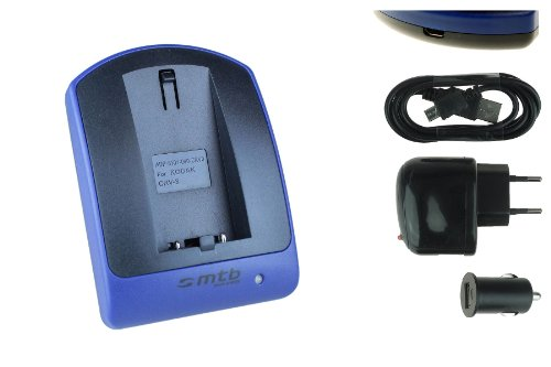 Ladegerät (USB, KFZ, Netz) für CR-V3 / Kodak, Olympus, Pentax, Samsung, Sigma, Toshiba. Siehe Liste