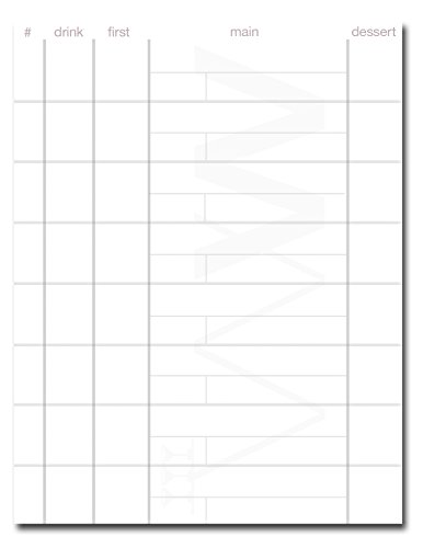 Price comparison product image Waiter Wallet Pads,  Four Inches by Six Inch Formatted Restaurant Guest Order Pads,  Twelve Pads with Fifty Perforated,  Staple Bound Pages