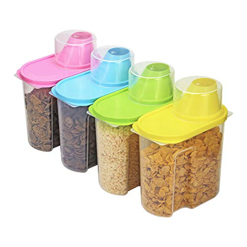 Taylor & Brown 4 Piece Set of Plastic Kitchen Storage Box Dry Food...