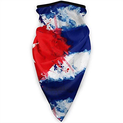 Cuba Bandera de Arte Cubano Máscara Facial Polainas de Cuello Bandana Bufanda Pasamontañas Sombreros multifuncionales para Deportes al Aire Libre