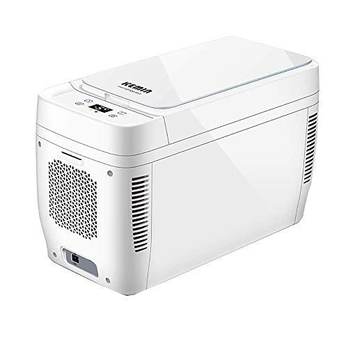 Kievy Mini-koelkast, 11 liter, met dubbele adering, CNC stil, elektronische koeler en warmer draagbaar, gekoelde mini-koelkast, alleen voor auto DC 12 V