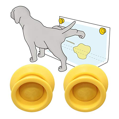 Petzy Pee Pad Holder for dogs (Pack of 2) | Potty Training for Leg-Lifting Dogs & Marking in the House | Any Size Puppy Pads (XL-SM) | Magnet: Easy Stick & Release, Better than Pee Pad Tray with Walls