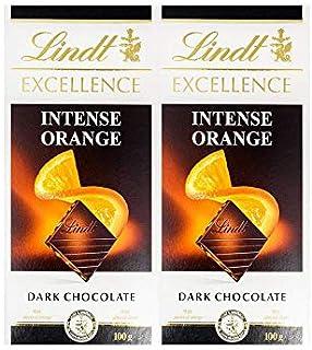 Lindt Excellence Dark Orange Sl.Almonds 100 g Twin Pack 1/1 Pack