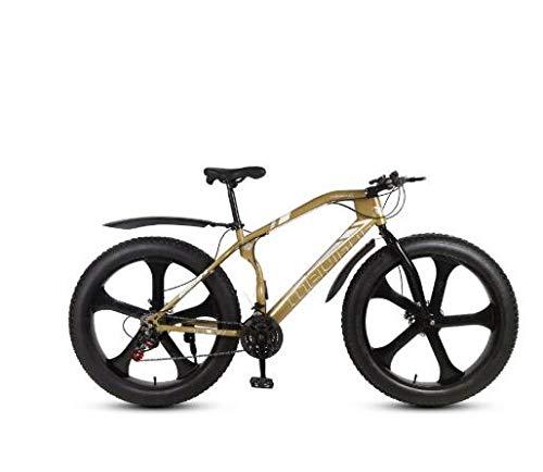 GUO Bicicletta Mountain Bike Fatbike 21speeds Fat Tire Snow Bike Uomo Donna Adulto BMX Mountain Bike Viaggi Bici da Strada-B2