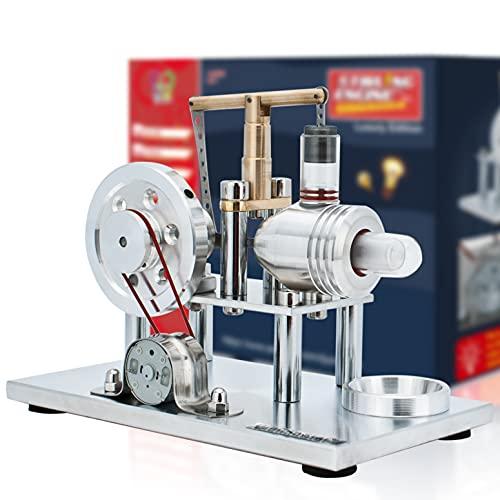 DjuiinoStar Hot Air Stirling Engine, Solid Metal...