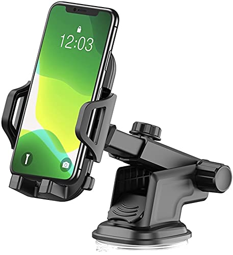 Car Phone Mount 3-in-one Windshield Dashboard Air Vent Cell Phone Holder for iPhone ,Samsung, Pixel , Moto, Nokia
