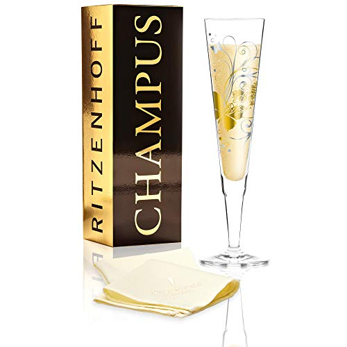 Ritzenhoff Champus Copa de Cava, Cristal, Gold/Platin, 7 cm