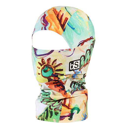 BLACKSTRAP Kids The Hood Dual Layer Cold Weather Neck Gaiter and Warmer for Children, Finger Paint
