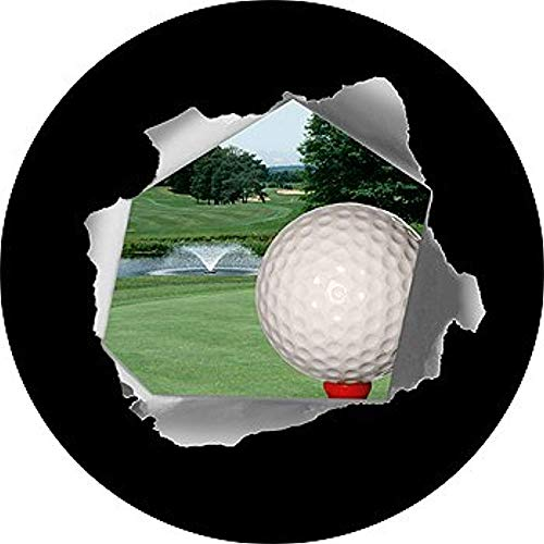 Golf Ball Op Tee In Fairway Band Cover Voor Rv Camper Trailer