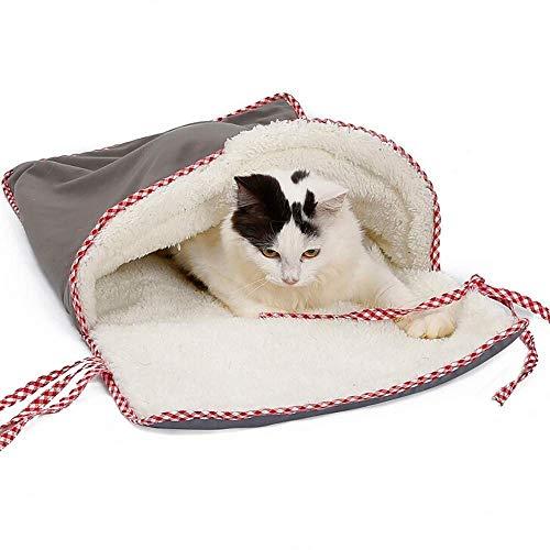 ROOPE Haustier-Schlafsack für Haustiere, aus Baumwolle, weich, waschbar, für den Winter, warm, für Katzenstreu