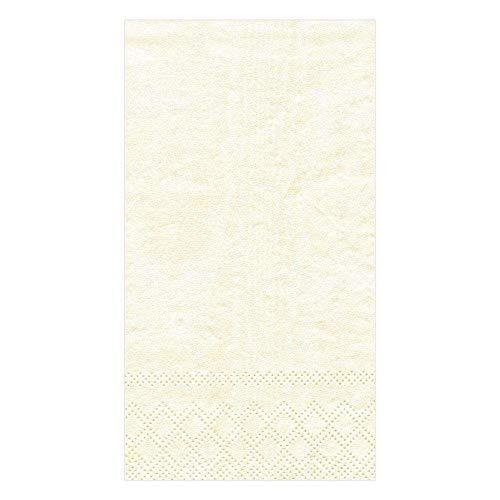 Caspari Papier Moire Buffet Servetten/Gast Handdoeken, Pack van 15, Ivoor