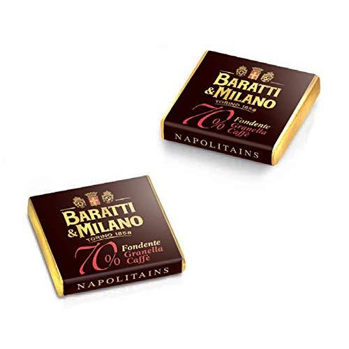 CIOCCOLATINI BARATTI & MILANO NAPOLITAINS FONDENTE 70% GRANELLA CAFFE' 500 GR