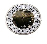 XINGFUQY Reloj Accesorios Suiza Rhonda 5040B Movimiento 5040.B Movimiento de Cuarzo Calendario de Seis Pines 12D Punto sin batería