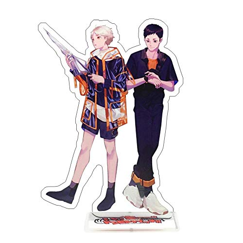 Zhenzhiao Haikyuu Anime Haikyuu Permanente Figura, Anime Acrílico Escritorio Soporte Miniatura Figura...