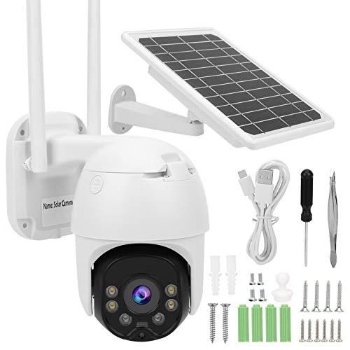 Fockety CCTV para Exteriores, visión Nocturna, Monitor de Seguridad para el hogar de Metal y plástico, cámara Domo de 8 W y 1080P, IP67 a Prueba de Agua(4G-APN Version)
