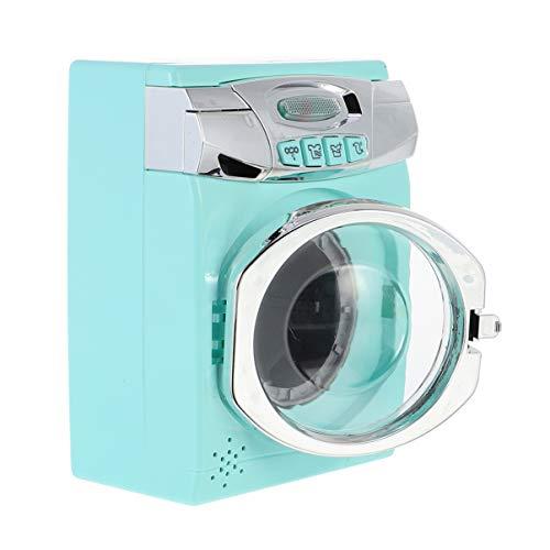 BESPORTBLE Kinder Waschmaschine Spielzeug Haushalt Spielzeug Miniatur Möbel Wäschespielset nach Hause So Tun Als Würde Man Spielzeug mit Geräuschen für Kinder Spielen