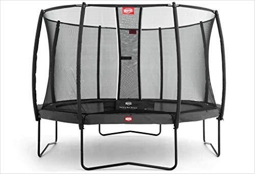 BERG Trampoline Kampioen ronde 430 met Veiligheid Behuizing Net Deluxe | Premium Trampoline, Kids trampoline, Langere Levenslange Garantie, Spring hoger met TwinSpring en Airflow