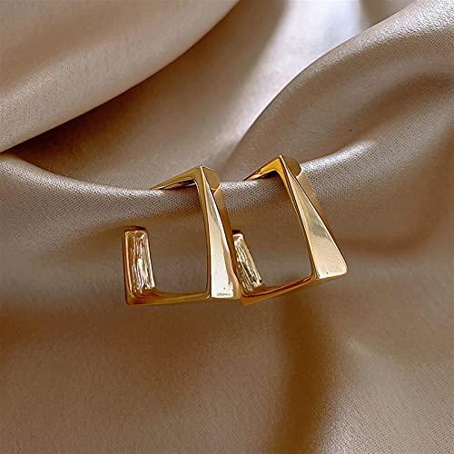 HAKLAKY Aretes de Plata Pendientes de aro de Metal Suave de aleación de Cobre clásico para Mujer Pendientes Diarios de Desgaste de la niña de la joyería de la Mujer Pendientes de Mujer (Color : 4)