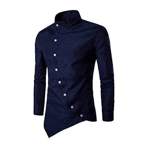 Homebaby Uomo Camicia Slim Fit Cotone Maniche Lungo Camicie Casual da Uomo con Polsini Francesi vestibilità Regolare Elegante Formale Tuta Primavera Magliette Leggere Sweatshirt