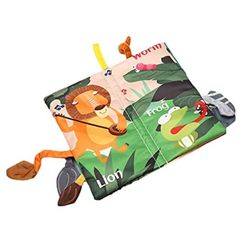 tulipes Libro de Tela Suave del bebé Dibujos Animados de Dibujos Animados Animal Libros de Aprendizaje con Sonido para recién Nacidos Libros para niños pequeños Estilo de Selva Libro Suave 26 Method