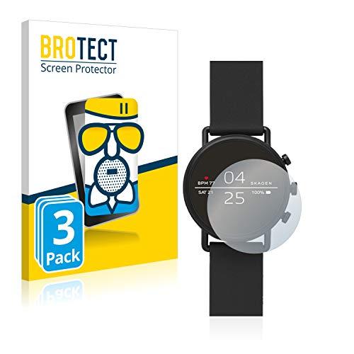 BROTECT Entspiegelungs-Panzerglasfolie kompatibel mit Skagen Smartwatch Falster 2 (3 Stück) - Anti-Reflex Panzerglas Schutz-Folie Matt