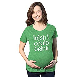 27bbfedbb8aed CafePress – Lucky St. Patricks Day Maternity T-Shirt – Cotton Maternity T- shirt, Cute & Funny Pregnancy Tee