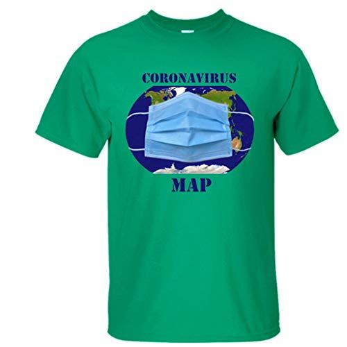 Rugby clothing boutique Q COVID-19 Coronavirus neutrales Adultos de Manga Corta Camiseta es más Fuerte (Color : AN-03, Size : S)