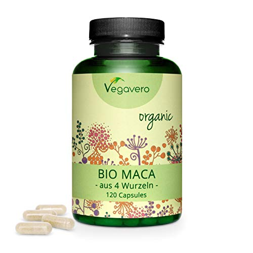 BIO Maca Andina Vegavero® | 3000 mg | Cosechada en Perú | 120 o 270 Cápsulas | Maca Negra +...