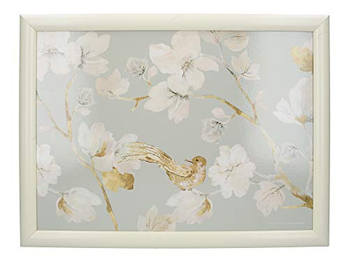 Creative Tops Cushioned Lap Tray / Lap Tray with Cushion and 'Duck Egg Floral' Design, Multi-Colour, 44 x 34 cm
