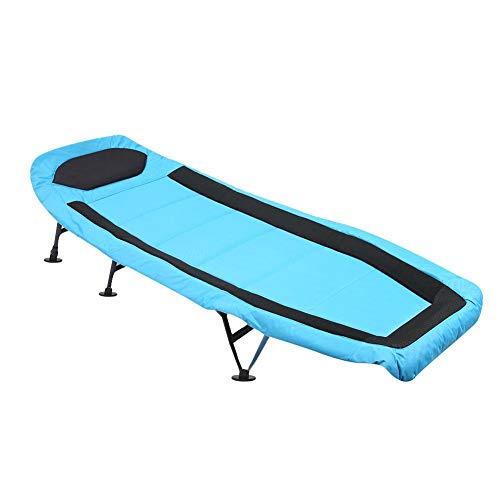 GOTOTOP ligstoel ligstoel, opklapbaar kampeerbed, draagbaar ligbed, kinderbedje, eenpersoons bed met stalen pijp en antislipmat
