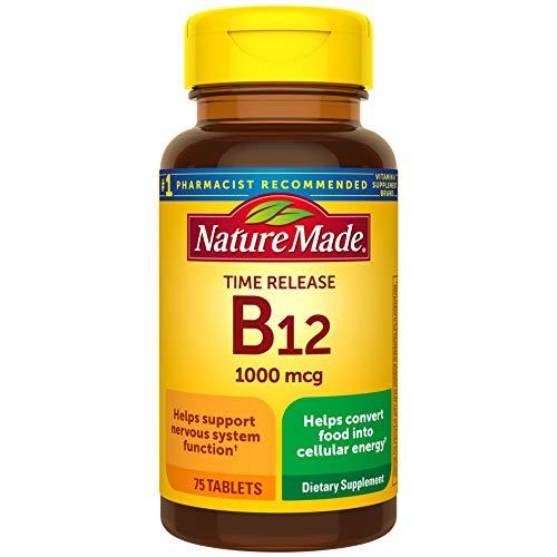 Nature Made - Vitamina b-12 de liberación programada 1000mcg, 75 comprimidos