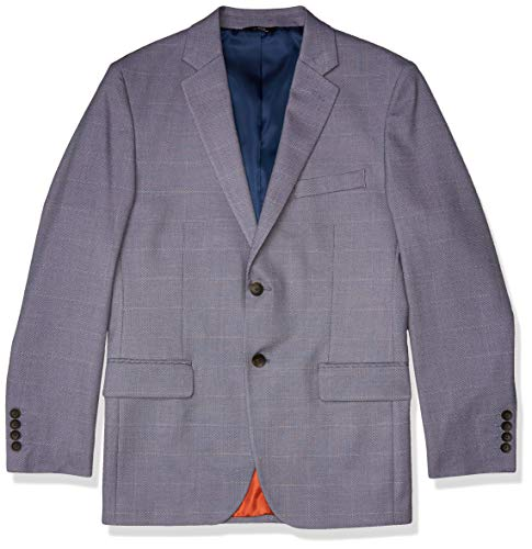 Haggar Mens Birdseye Fancy Slim Fit 2-Button Side Vent Sport Coat 42L Navy