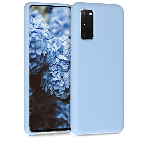 kwmobile Custodia Compatibile con Samsung Galaxy S20 - Cover in Silicone TPU - Back Case per Smartphone - Protezione Gommata Blu Chiaro Matt