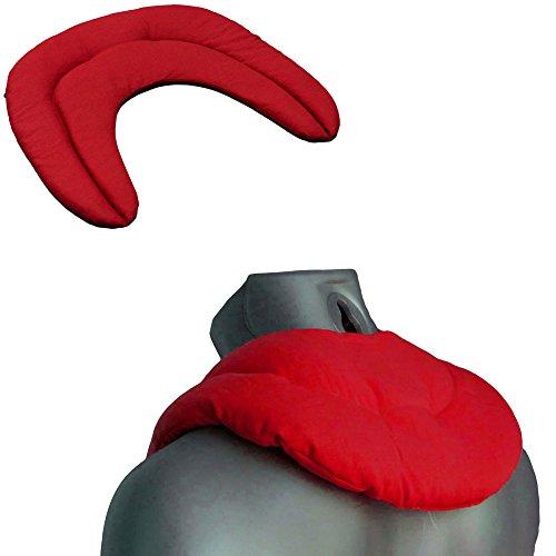 Cuscino cervicale con semi di lino, con camere, rosso ciliegia, cuscino termico per collo