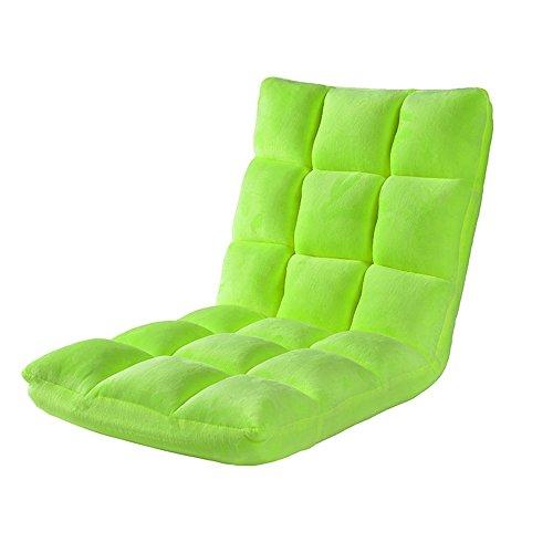 GFL Chaises Plancher Chaise Lit Ordinateur Chaise Dossier Paresseux Simple Petit Canapé Dortoir Dortoir Baie Fenêtre Plancher Sofa (111 * 50 * 12 cm) (A++) (Couleur : Vert)
