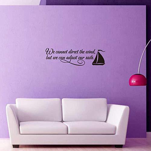 Nordic Inspirationele Letters Art Decals Wall Stickers Wall Stickers Wall Stickers Scene Black DIY Vinylbehang afneembare muur Sticker slaapkamer woonkamer slaapkamer decoratieve nachttafelsticker