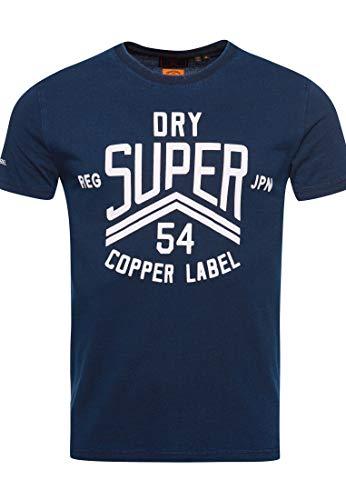 Superdry Herren Copper Label T-Shirt Traditionell Verwaschenes Blau S