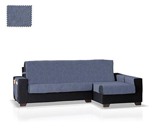 JM Textil Funda de sofá Chaise Longue Pharma Brazo Derecho, Tamaño Grande (275 Cm.), Color Azul