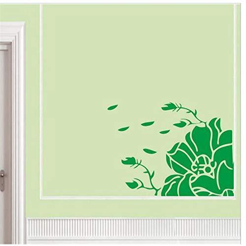 Muurtattoo, motief plant bloemen wandsticker vrouwen kamer achtergrond decoratie huis raam aftrekbaar DIY behang 40 x 29 cm