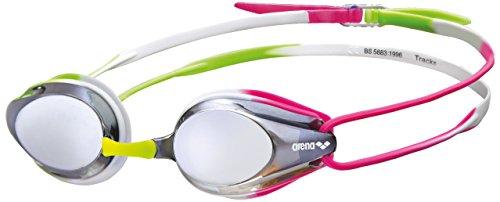 Arena Unisex's zwembril Tracks Spiegel, Zilver/Groen/Fuchsia, Senior