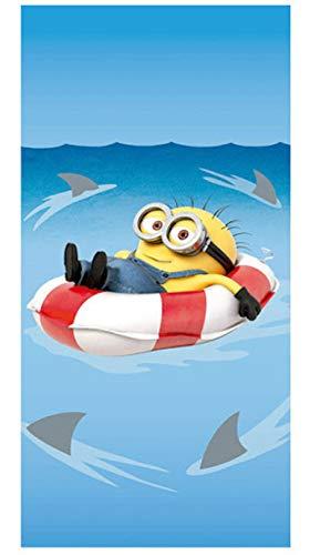 Despicable Me Toalla de Baño Playa Piscina Minions Flotador Tiburones 140 x 70 cm - Fast-Dry