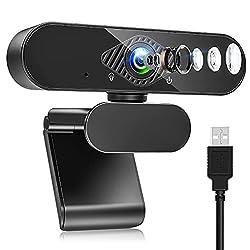📸【VIDÉO Full HD 1080P】 Webcam 1080P est Utilisant la technologie de compression avancée H.264, équipée d'une lentille de résolution Full HD 1080P cette web caméra vous donne une image de haute qualité à 30 frames par seconde, ce qui peut vous offrir ...