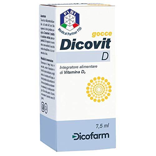 integratore alimentare di vitamina d dicovit d flacone da 7,5 ml