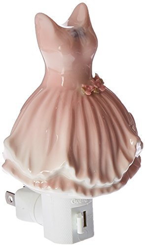 Cosmos 10601 Fine Porcelain Ballerina Dress Plug in Night Light, 5-1/8-Inch