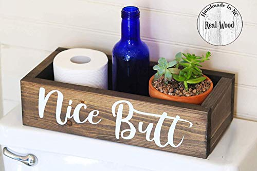 Nice Butt Bathroom Decor Box - Toilet Paper Holder - Farmhouse Rustic- Handmade in Boone North...