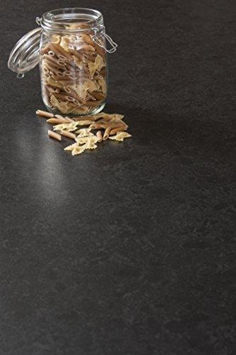 WORKTOPEXPRESS Schwarzer Granit - Resopal Küchenarbeitsplatten (4m × 600mm × 38mm)