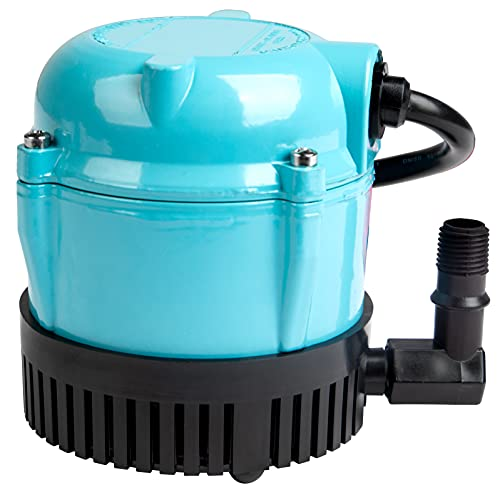 Little Giant 500203 1-A 170 GPH Permanently Oiled Direct Drive Submersible Pump for Fountain, Water Display, Air Conditioner