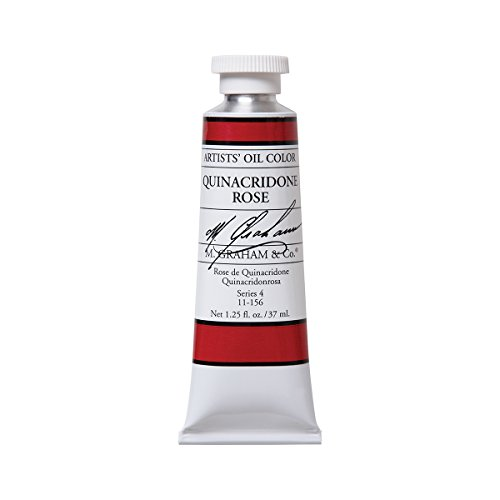 M. Graham Artist Oil Paint Quinacridone Rose 1.25oz/37ml Tube