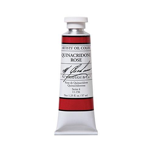 M. Graham Artist Oil Paint Quinacridone Rose 1.25oz/37ml Tube